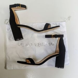 Stuart Weitzman Nearlynude suede block heel sandal